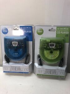 NEW SEALED Vintage Audiovox Personal Portable CD Player CE145B Walkman Lot Of 2