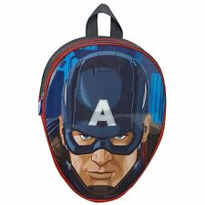KIDS CHILDRENS MARVEL AVENGERS AGE OF ULTRON CAPTAIN AMERICA BACKPACK SCHOOL BAG