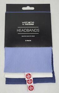 Manduka Yoga Headbands. 3pc. White,Blue,Purple. Brand New