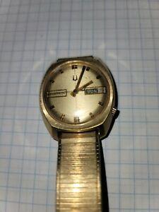 Vintage Accutron Men's Day Date Watch.  Keeping Time Retro Beautiful MVT2182