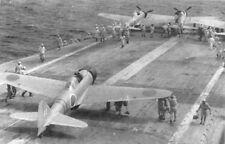 WW2 WWII Photo Japanese A6M2 Zero Fighters on IJN Junyo  World War Two / 6184