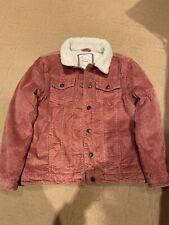 Girls Fatface Fleece Cord Jacket Coat Age 10-11