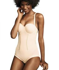 NWOT Flexees Easy Up Strapless Firm Control  Girdle Shaper Brief 1256 Beige 40C