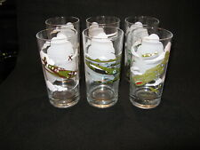 New Listing6 Vtg Military Fighter Airplane Drinking Glasses B 25 B 17 Curtis P-40 Spitfire