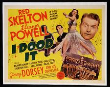I DOOD IT RED SKELTON ELEANOR POWELL 1943 HALF-SHEET