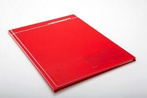 1x Fahrzeugmappe A4 rot Bordbuch Fahrermappe Dokumentenmappe Organizer KFZ Auto
