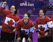 Auto Lauriane Rougeau Rebecca Johnston Laura Fortino Team Canada 2014 8x10 Photo
