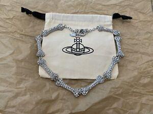 vivienne westwood Silver Crystal Bones 🦴 necklace