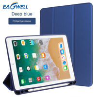 "For iPad 6th Generation 9.7"" 2018 Smart Leather Cover Case W/ Apple Pencil Slot"
