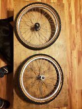"Old school rims chinook sun Hubs Twisted Spoke BMX vertigo 16"" set"