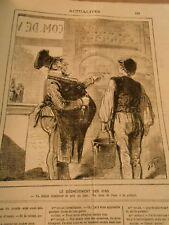 Caricature 1880 - Le dégrèvement des Vins Va falloir diminuer le prix du litre !