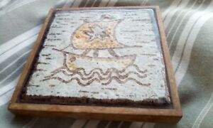 French vintage tiled  pot stand