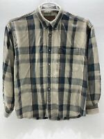 North River Outfitters Plaid Flannel Button Down Long Sleeve Shirt Men's Large