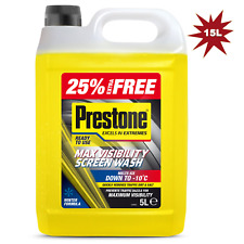 Prestone 5L Ready To Use Screen Wash Pre Mixed All Seasons - 3 x 5L - 15 Litre