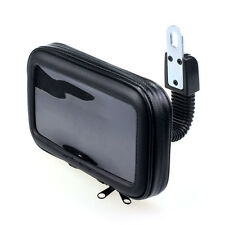 New Waterproof Motorcycle Rear View Mirror Mount Holder Case For Phone GPS 5'