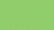 Makower Spot On Apple Verde G65 100% tessuto di cotone, la Metà metro, GRATIS P&P,