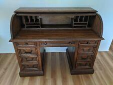 Beautiful Antique Solid Oak Roll Top Desk