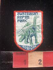 Vintage DINOSAUR AUSTRALIAN REPTILE PARK Gosford Australia Woven Patch C99K