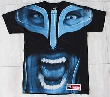 WWE Wrestling Mysterio Official Apparel Shirt Black Blue Small Mens