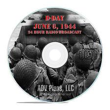 D-Day Landing WW2, June 6, 1944 Old Time Radio OTR Normandy Landings MP3 CD E89