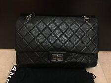 100% Genuine Chanel Reissue 2.55 227 Black Classic Double Flap Bag RRP£5560