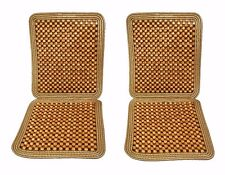 Zone Tech 2x Ultra Comfort Car Natural Wooden Beaded Seat Cushion Beads