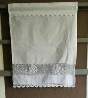 Panneaux Scheibengardine Gardine Weiß 40/50cm Shabby Vintage Landhaus