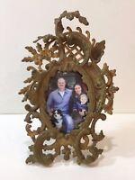 "Antique Victorian Gilt Bronze Photo Frame, 4"" x 6"" (Image), 8"" x 13"" (Frame)"