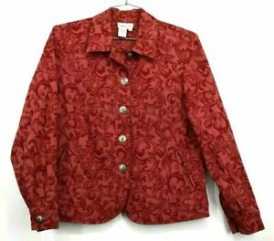 Coldwater Creek Soft Paisley Textured Cotton Blouse