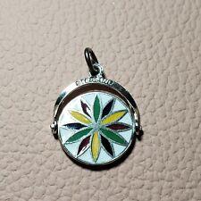 Sterling Silver Pennsylvania Dutch Spinner Enamel Bracelet Charm Amish Hex Luck