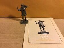 Vintage Saturday Evening Post Franklin Mint Pewter Figurine Colonial Pride