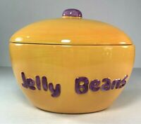 """Easter Jelly Bean Candy Dish Bowl Covered Lid Ceramic Bunny Rabbit  7"""""""