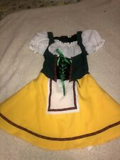 Rg Costumes Bavarian Girl Dress Costume Size 4-6 Heidi Black Yellow Red White