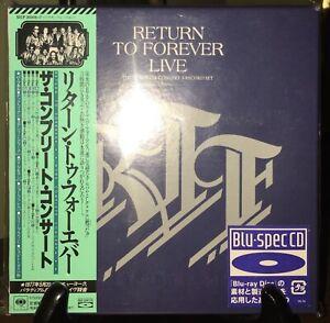 RETURN TO FOREVER- Live, Japan MINI LP Blu-Spec 3 CD Boxset w/OBI SICP-20305~7