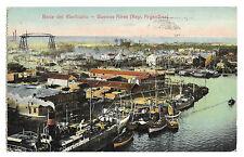 Boca Del Riachuelo, , Buenos AiresArgentina, PPC 1921 PMK Shipping in Harbour