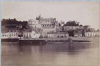 Castello Amboise 2 Foto Doppio / Verso Vintage Ca 1880