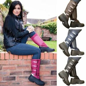 Long Riding Mucker Boots Ladies Mens Fleece Lined Well Country Stable Yard Horse