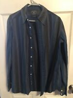 Lucky Brand Button Front Shirt Long Sleeve Multi Color Plaid Mens Medium