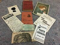 Lot of Vintage Advertising Ephemera Items-Websters Dictionary-Silhouette + More