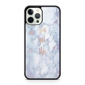 You Got This Quote White Marble Stone Rock Cool Pattern Covered Phone Case Cover