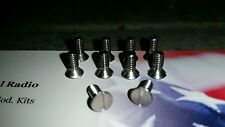 Astatic D -104. Base Plate S.S. screws. 10 for $6.00. Please see photo.