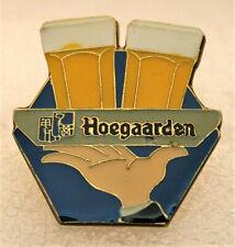Rare Vintage 1970s Hoegaarden Brewing Beer Brass & Enamel Lapel Pin New Nos