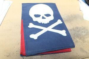 Robert Mark Golf USA Skull & Bones Leather Score card Holder NEW