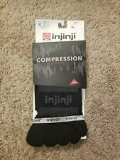 New Injinji Ex-Celerator 2.0 Compression Knee High Toe Socks Men's Small Black