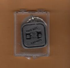 1990 SUPER BOWL XXIV SAN FRANCISCO 49ERS PEWTER KEY RING NFC CHAMPS Unsold CASED