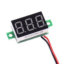 2 Wire Digital Red LED Car Voltmeter Voltage Volt Panel Meter Gauge DC 4.5-30V