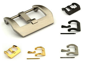 Stainless Steel Trapezium Buckle for Watch Strap fitted by Screw 22mm 24mm 26mm