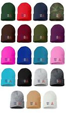 USA Embroidered Cap Hip Hop Beanie Cuffed - Multiple Colors
