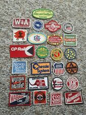 Vintage Lot of 25 Sew On Railroad Patch Patches Variety No Duplicates Wow Look!