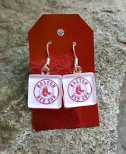 Boston Red Sox Earrings Res Sox Jewelry MLB Red Sox Earrings Baseball Jewelry